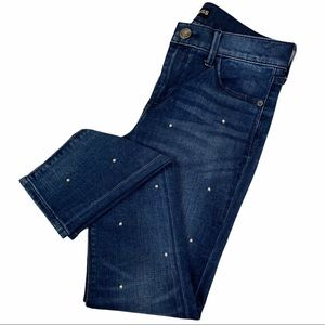 Express Pearl Legging Fit Mid Rise Ankle Jeans